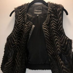 Sanctuary Faux Fur Brown Vest
